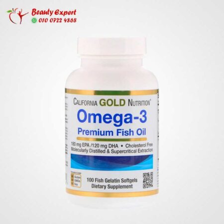 Omega-3, Premium Fish Oil, California Gold Nutrition, 100 Fish Gelatin Softgels
