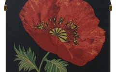 Blended Fabric Poppy Red Wall Hangings