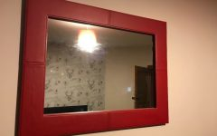Large Red Wall Mirrors
