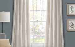 Knotted Tab Top Window Curtain Panel Pairs