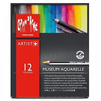Caran D Ache Aquarelle Museum Watercolor Pencils Review