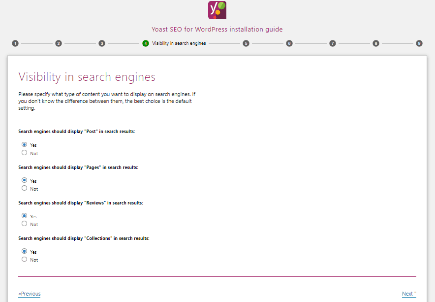 Menu Visibility in search engines