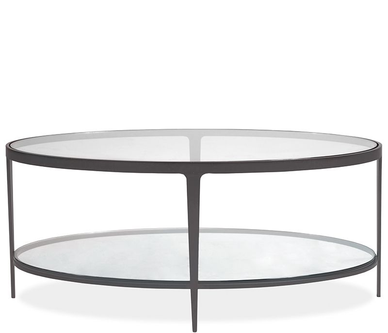 Clooney Oval Coffee Table Gunmetal