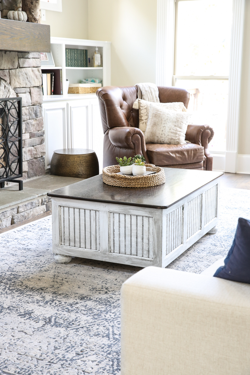 Glazing Furniture Diy Coffee Table Makeover Bower Power
