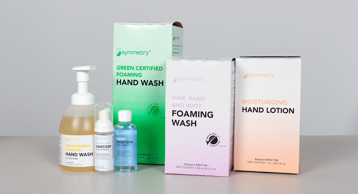 Symmetry Hair Hand Body Foaming Wash Hand Hygiene Compliance
