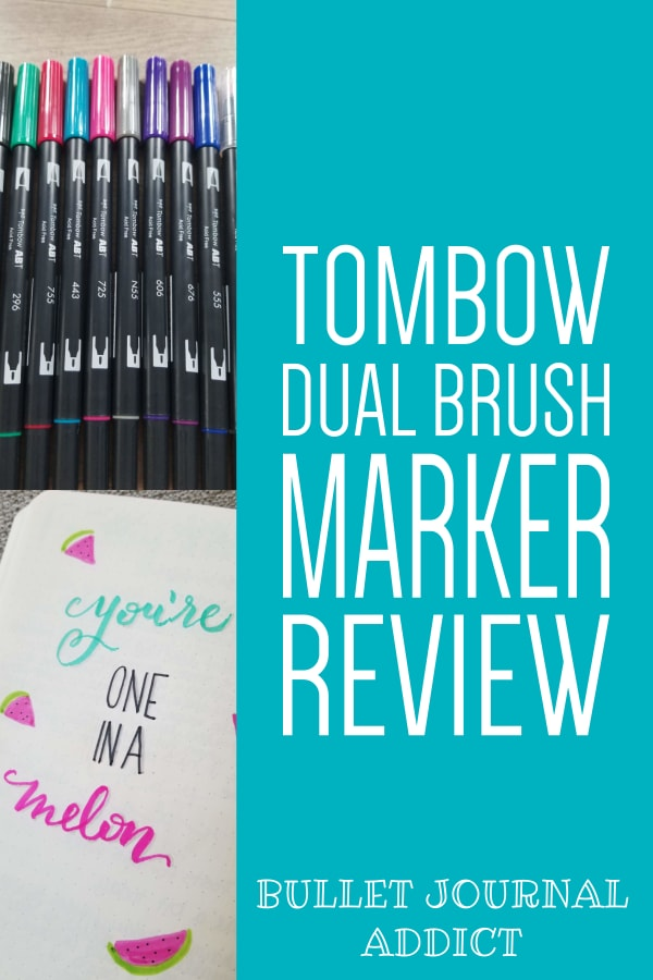 Bullet Journal Addict An Honest Review Tombow Dual Tip Brush Pens