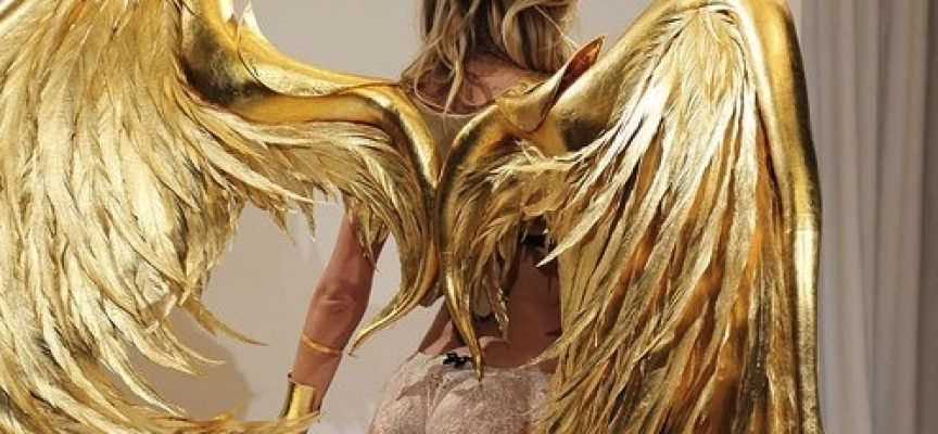Gold-Soaring-Wings-Sexy-Hot-Lady-Woman