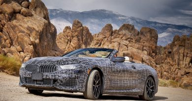 BMW 8 Series Convertible Spotted Sunbathing in the Desert