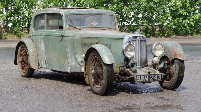 1936 Aston Martin Mk II for Sale After 50 Years Collecting Rust