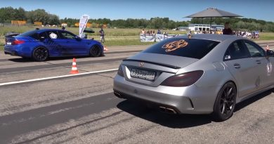 BMW M5 and Mercedes-Benz CLS63 AMG Meet in a Brutal Drag Battle