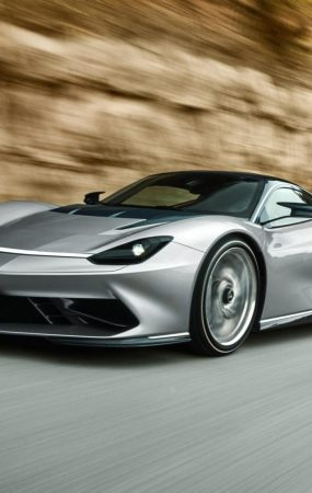 Pininfarina Battista Runs Around a Mountain Pass