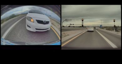Hard Collision Destroys A Tesla From Behind
