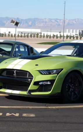 Two Ford Mustang Shelby GT500s From Two Different Eras Meet