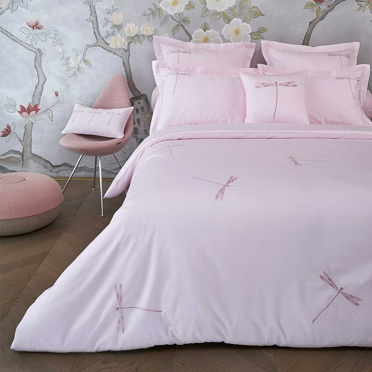 dragonfly duvet cover paradise pink