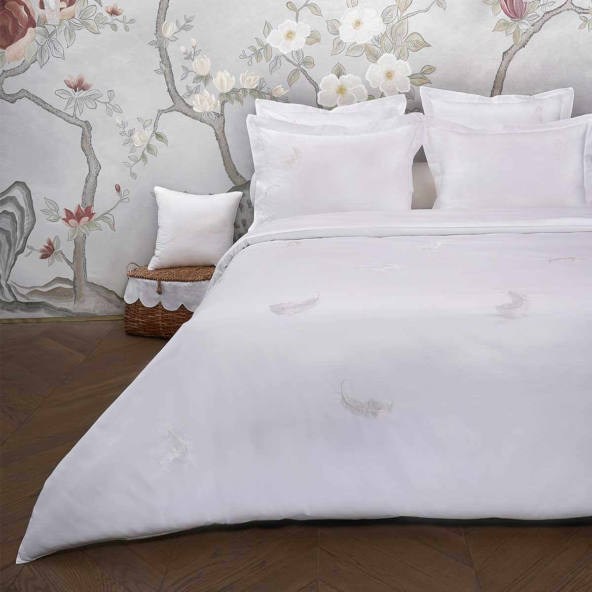 feather duvet cover white