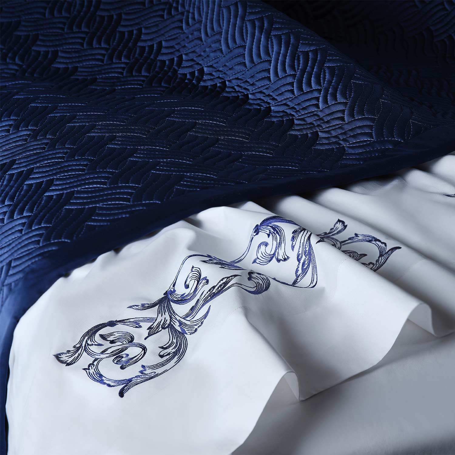 brooks quilted bed throw detail