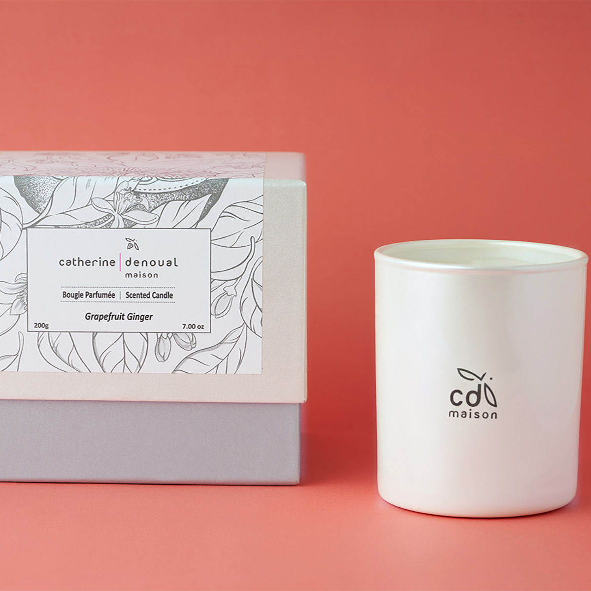 grapefruit ginger scented candle