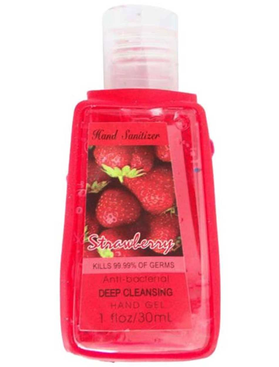 Hand Sanitizer Anti Bacterial Strawberry Hand Gel 30ml Bath Spa