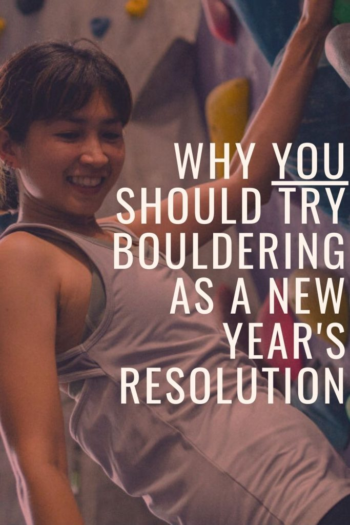 Bouldering New Years Resolution pin