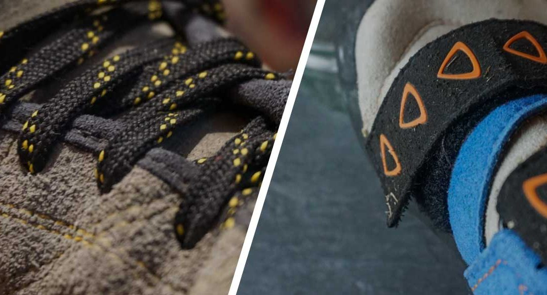 Lace vs velcro climbing shoes