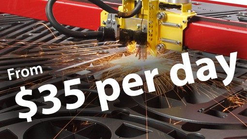 CNC Plasma Cutters Samson 510 packages start at a finance cost of around $35 per day