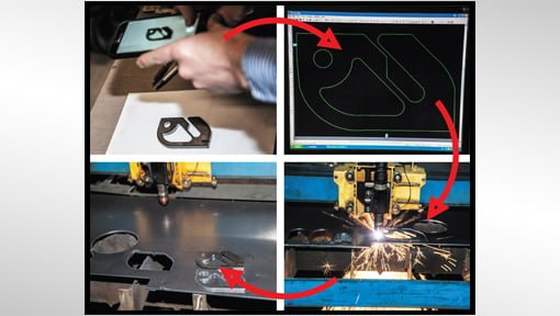 Photograph it on your phone… cut it out with your plasma!  One of the most popular features of the CNC Plasma Cutters software