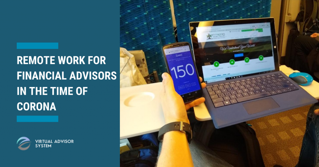 remote work for financial advisors