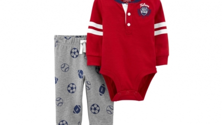 Carter's Baby Boy 2-Piece Varsity Bodysuit Pant Set -Sale $8.80!!
