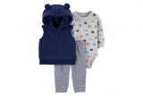 Carter's Baby Boy 3-Piece Sherpa Little Vest Set – Sale $12.80