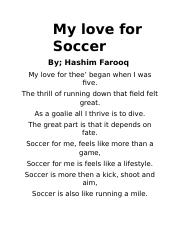 Poems About Soccer 2