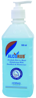 Alcorub Alcoholic Rub In Hand Disinfectant With Emollient
