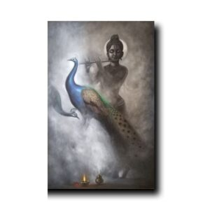 hindu religion artwork-Fumes Of Purity | Oil Painting