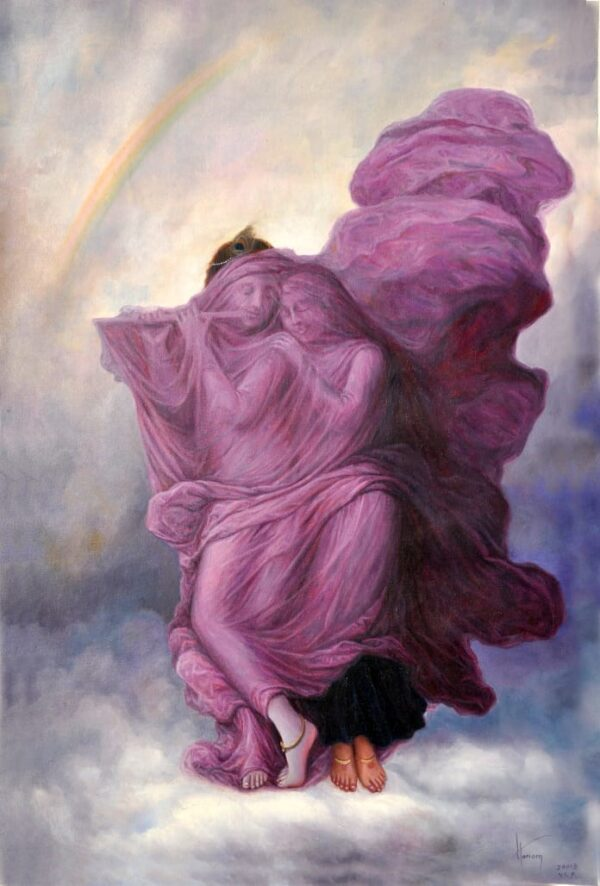 The Pink - Fled And Found In Love | Oil Painting By Hari Om Singh