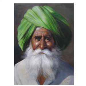 beautiful village art-An-Era-On-A-Face-Oil Painting