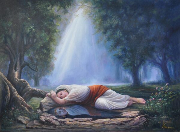 Krishnameera - When Your Thoughts Become Your Reflection | Oil Painting By Hari Om Singh