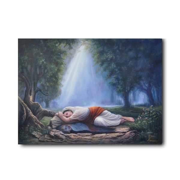 krishna-meera-oil-paintings-online-krishna-in-meera-when-your-thoughts-become-your-reflection