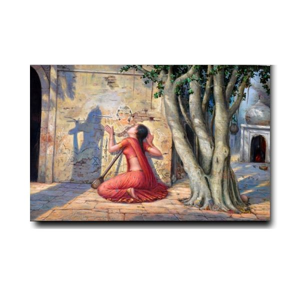 beautiful religious oil paintings-meeras-mohan-oil-painting