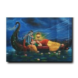beautiful radha krishna painting-the-royal-sangam-moments-of-togetherness-oil-painting