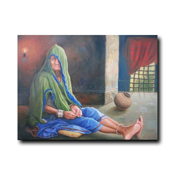 Indian-Village-Paintings-The-Lady-of-the-Nomads