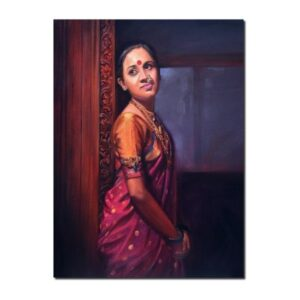 Premium Figurative Artwork by Deepak R. Patil | 30 x 36