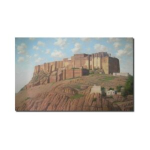 Mehrangarh Fort Oil Painting mehrangarh-the-royal-highness