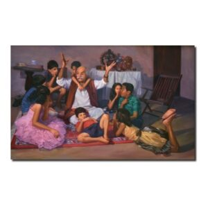 Original Oil Paintings-Harmonious Relationship-2 | Oil On Canvas by Deepak R. Patil | 36x52