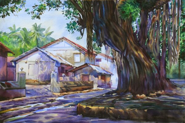 Morning Light | Watercolor Artwork by Deepak R. Patil | 14 x 22