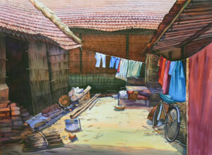 15. Water Colour on Paper 22X30inch Rs.100000