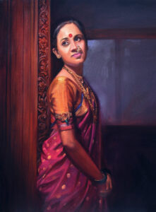 19. 30x36inch Oil on Canvas Rs - 75,0000