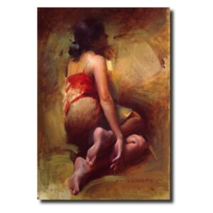 Indian Figurative Paintings for Sale figure-vi-by-pramod-kurlekar-oil-painting