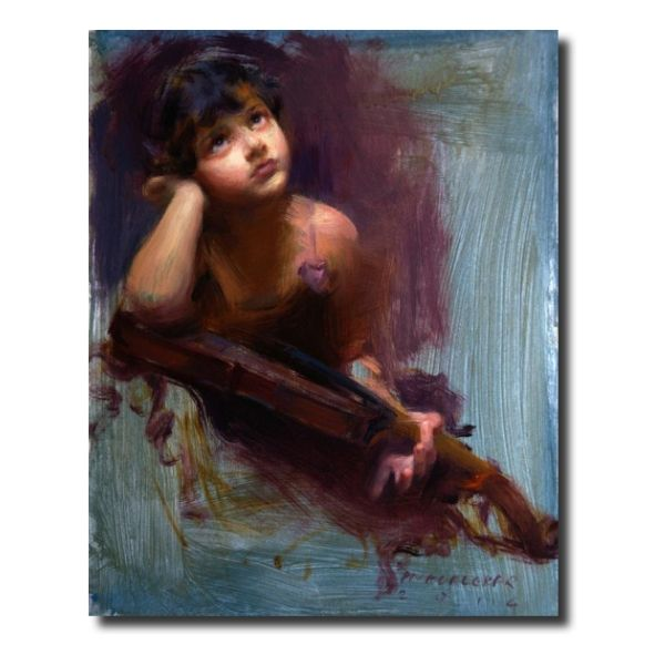 Indian Art For Sale imagine-a-new-tune-by-pramod-kurlekar-oil-painting