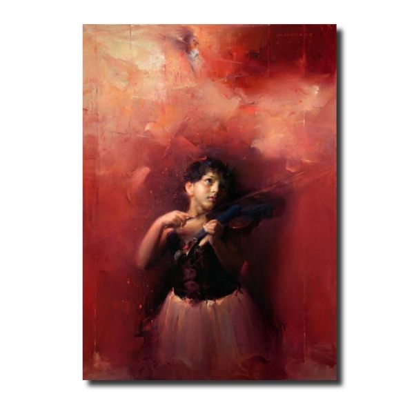 shop paintings online waiting-for-divine-tune-by-pramod-kurlekar-oil-painting
