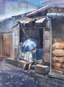 9. Water Colour on Paper 22X30inch Rs.100000