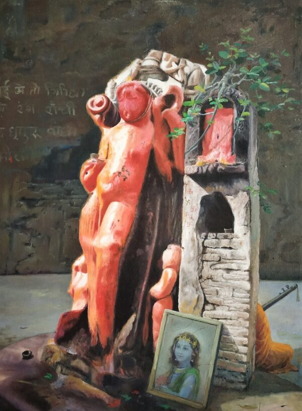 Almighty On An Open Stage | Oil Painting By Hari Om Singh